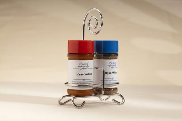 Seasoned Salt & Pepper with Caddy Back Can Be Personalized